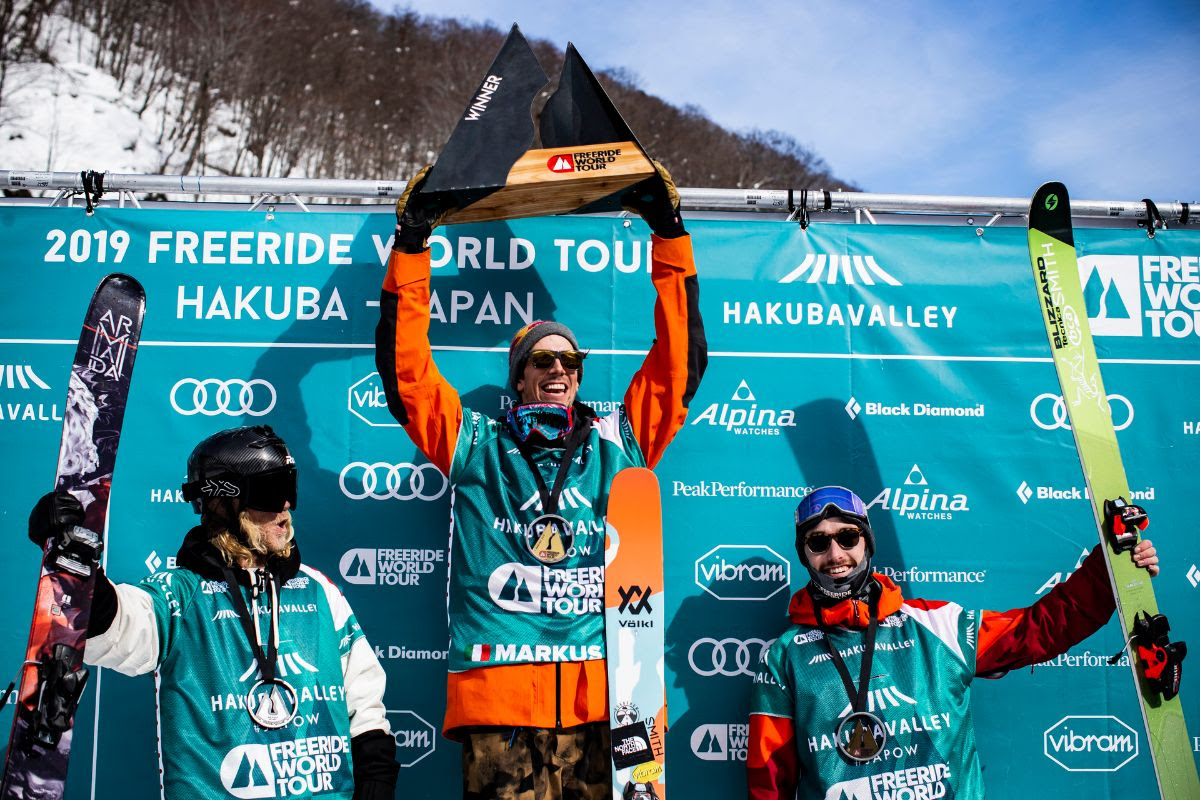 Markus Eder sul podio del Freeride World Tour